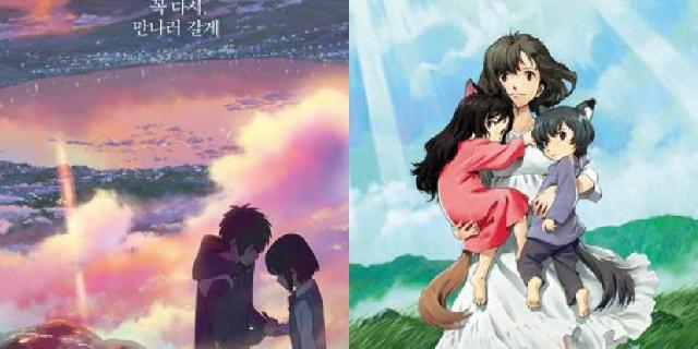 인공지능이 선정한 이번주 화려한 일본 애니메이션 영화 순위 | 마이셀럽스