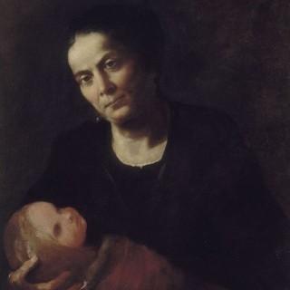아기를 안고 있는 여인