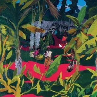 바나나 나무가 있는 시골풍경