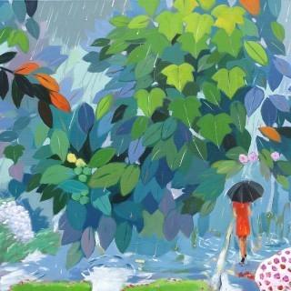 정원 - 봄비