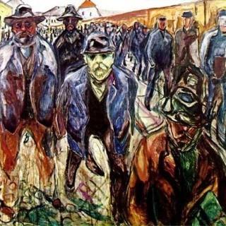 귀가하는 노동자들