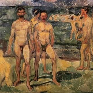 해수욕하는 남자들