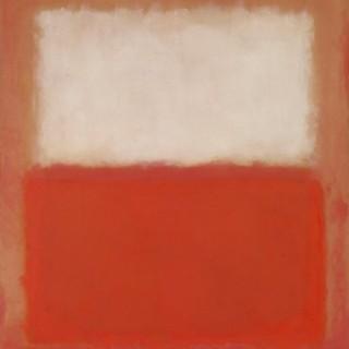 붉은 색 위에 흰색