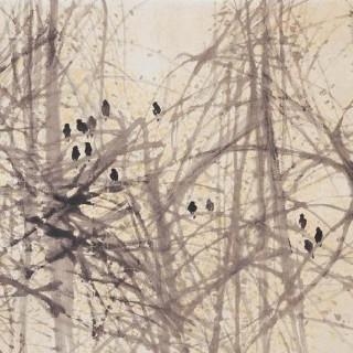 나무숲 속의 새들