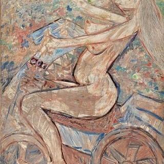 자전거 타는 여인