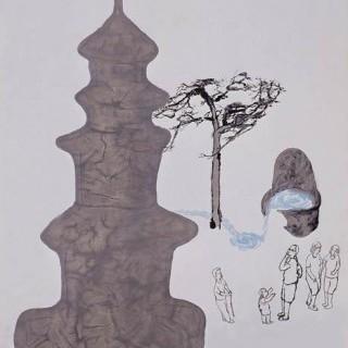 표충사의 탑과 샘물