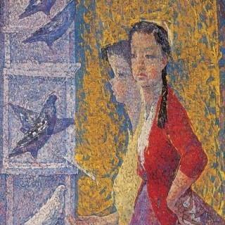 비둘기와 소녀