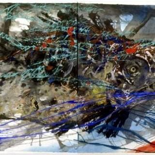 푸른 그물안의 쏘가리