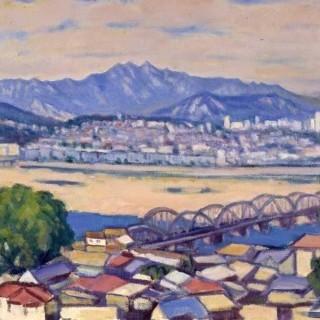 한강에서 본 북한산