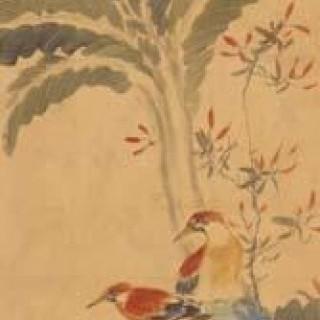 파초와 새