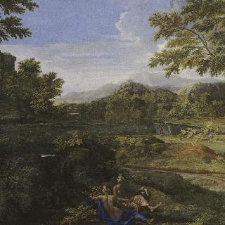 두 님프가 있는 풍경
