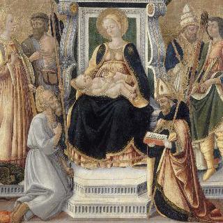 여섯 사도와 함께 있는 성 모자상