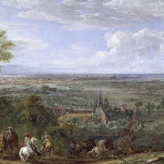 1667년 8월 9일부터 27일, 피브 소수도원을 위해  릴에 도착한 루이 14세