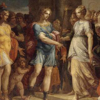 카리클레아에게 횃불을 건네 받는 테아게네스