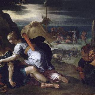 카리클레아의 간호를 받는 테아게네스