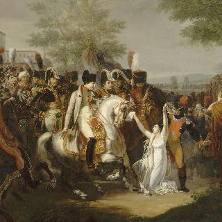 마드무아젤 드 성-시몽에게 은총을 선사하는 나폴레옹 1세