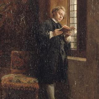 창가에서 책읽는 남자 (검은 옷을 입은 책읽는 남자)