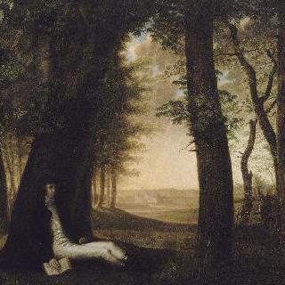 나무 아래에 기대어 책을 읽는 루시앙 보나파르트의 초상