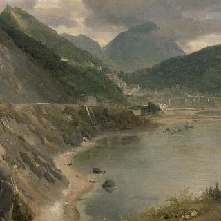 살레르노 만과 마을 풍경