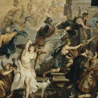 1610년 5월 14일, 앙리 4세 예찬과 마리 드 메디치의 섭정 선포