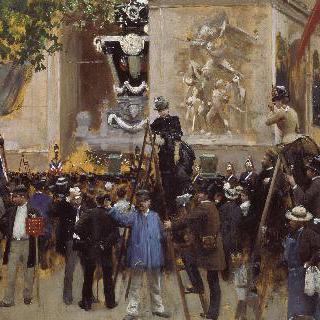 에투알 광장에서 열린 빅토르 위고의 장례식 (1885년 6월 1일)