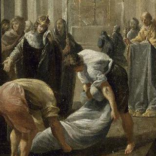 1152년 쉬제의 죽음에 눈물을 흘리는 루이 12세