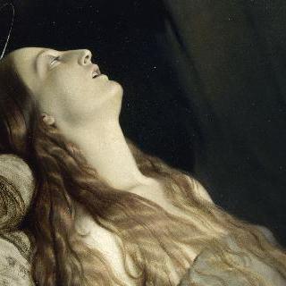임종 직전의 루이즈 베르네. 화가의 부인