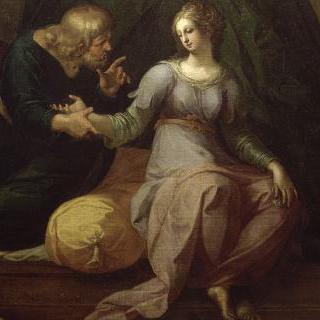 테아게네스와 카리클레아의 사랑 이야기 : 카리클레아를 청진하는 의사 아세스티누스