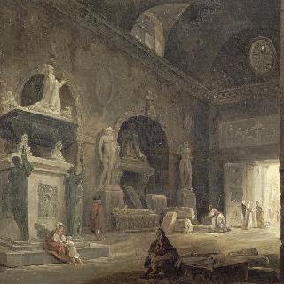 프랑스 문화재 박물관 전시실의 전경