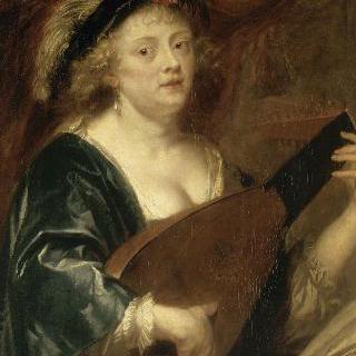 루트를 연주하는 여인