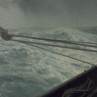 알다 호의 선미, 혼란스러운 바다(바람과 파도)