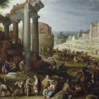 로마의 캄포 바치노의 장터
