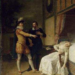 앙리 4세와 쉴리 앞에서 기절한 가브리엘 데스테