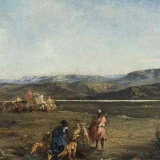오드나에서의 가젤 사냥(알제리)