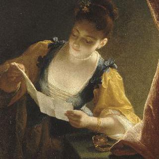 편지를 읽는 소녀