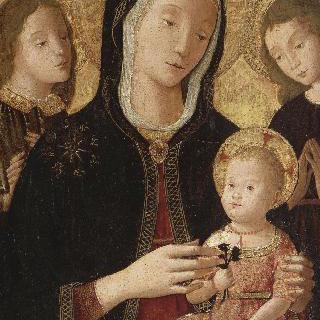 두명의 천사와 함께 있는 성모와 아기 예수