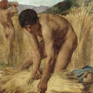 로마 농촌의 수확하는 사람들