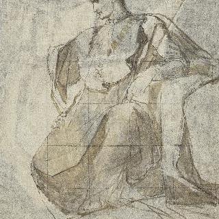 황실 왕자의 세례식을 위한 습작 : 나폴레옹의 얼굴