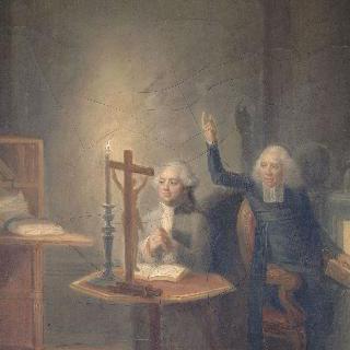 엣지워스 사제에게 고해성사 하는 루이 16세, 1793년 1월 21일
