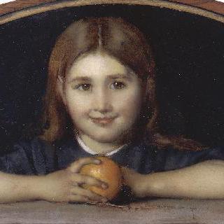 오렌지를 든 소녀