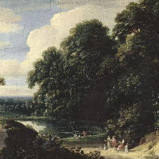 숲 가장자리의 연못