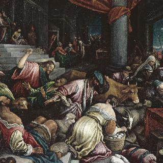 신전의 상인들을 내쫓는 예수
