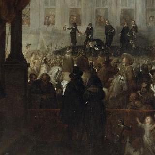 화이트홀 광장에서 거행된 찰스 1세의 사형 집행