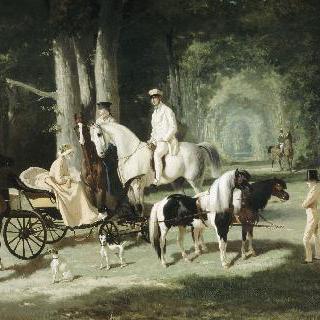 모셀망 부부와 두 명의 딸들