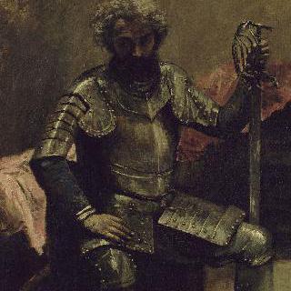 갑옷을 입은 남자 (앉아있는 군인)