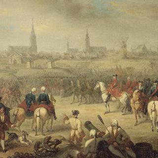 1744년 7월 11일, 클레르몽 왕자에 의해 점령당한 벨기에의 퓌르네지방