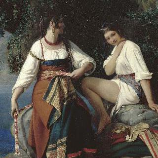 산 도나토 옷을 입은 목욕하는 두 여인