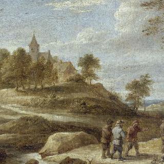 작은 언덕 위, 교회가 있는 풍경