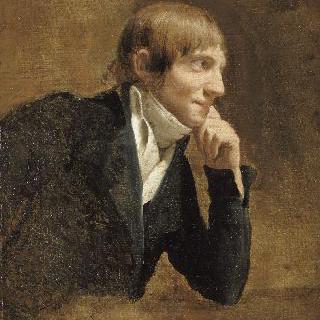 꽃을 그리는 화가 피에르 조제프 르두테의 초상