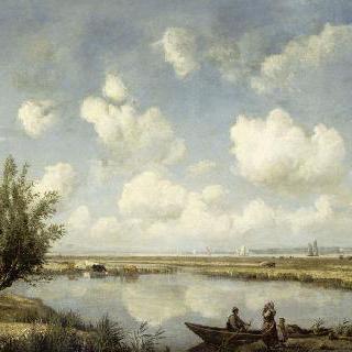 8월경, 루아르 강 하구 코르셉의 풀밭과 늪지